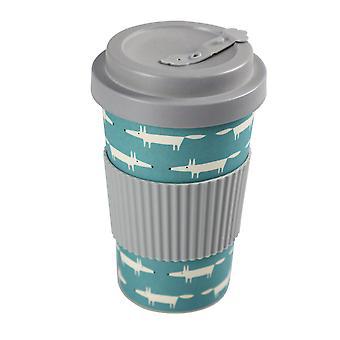 Scion Bamboo Mr Fox Drinks Mug, Teal