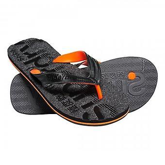 Superdry Scuba Grit Flip Flops Black Grit NKM