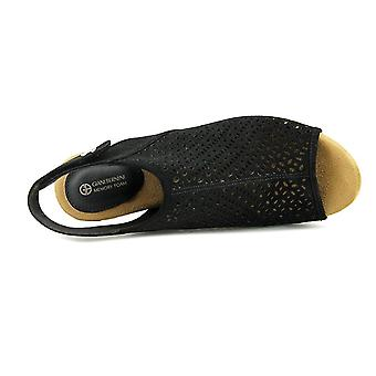Giani Bernini Joiseyy Women Open Toe Synthetic Black Platform Sandal