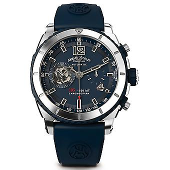Armand watch nicolet s05 a714agu-bu-gg4710u automatic chronograph watch for Men Analog Quartz Watch with A714AGU-BU-GG4710U Rubber Bracelet