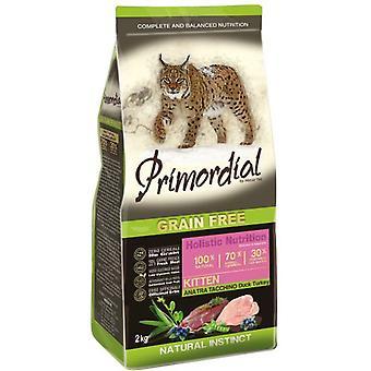 Primordiale Pienso para Gato Kitten Pato y Pavo (katten, kattenvoer, droog voedsel)