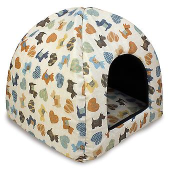 Arquivet Iglu for Dogs and Cats Model Blue Puppies