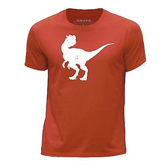 STUFF4 Chłopca rundy szyi T-shirty-Shirt/dinozaur/Dilofozaur/Orange