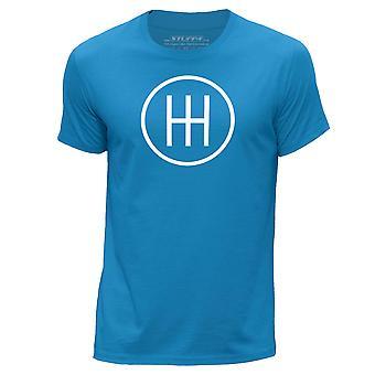 STUFF4 Men's Round Neck T-Shirt/Petrol Head / 6 Speed Gearbox/Blue