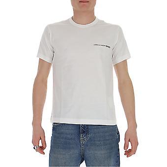 Comme Des Garçons Shirt S281193 Men's White Cotton T-shirt