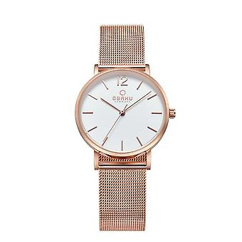 Obaku Mark Lille Rose Gold Tone Women's Wristwatch V197LXVWMV