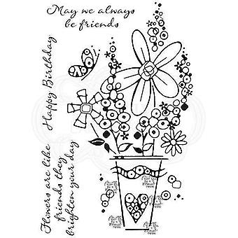 Woodware Clear Stamp Set - Millefiori Vase