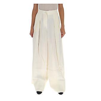Jacquemus 193pa0419332140off Women's White Linen Pants