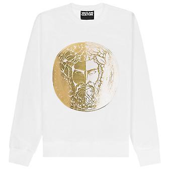 Versace Jeans Couture Circle Ouro Medusa Logotipo Moletom