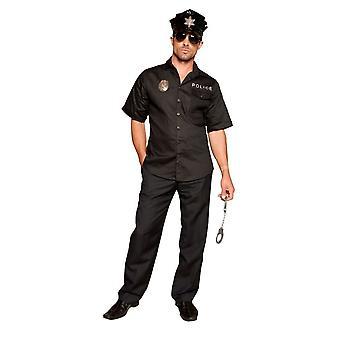 Traje de Policial Quente Masculino