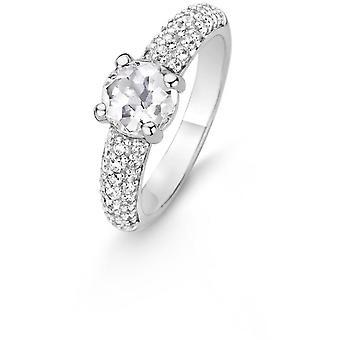 Liberar 12087ZI - anillo con mujer anillo de cristales blancos