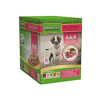 Natures Menu Beef And Tripe Adult Wet Dog Food Pouches (Pack Of 8)
