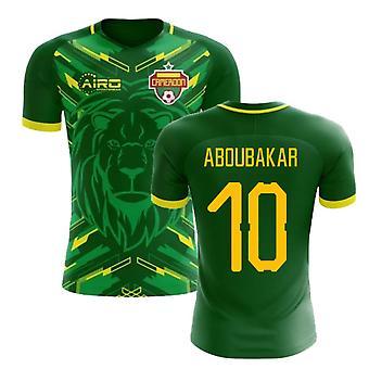 2020-2021 Kamerun Home Concept Jalkapallo paita (Aboubakar 10)