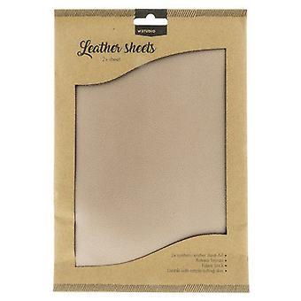Studio Light Fake leather sheets nr.01 - antique bronze FLSSL01 2xA4