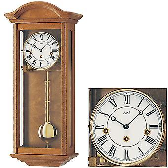 AMS 2606/4 Regulateur Regulator with Pendulum Mechanical Wood Oak Pendulum Watch