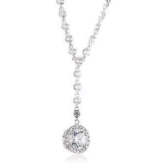 Diamonfire 63-0860-1-082 - Chain with women's pendant with cubic zirconia - silver sterling 925