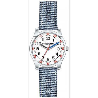 -Watch child Freegun EE5241 Varial fabric blue steel round Gar we