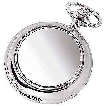 Woodford vanlig förkromad Full Hunter Quartz fickur - Silver