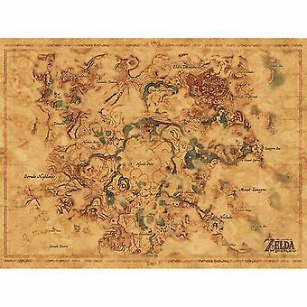 Zelda, Maxi Poster - Carte Hyrule