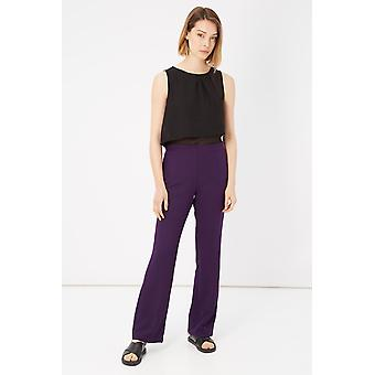 Please Bicolour Violet Sleeveless Jumpsuit