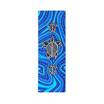 Turtle Serenity Aboriginal Design Yoga Mat Eco Rubber