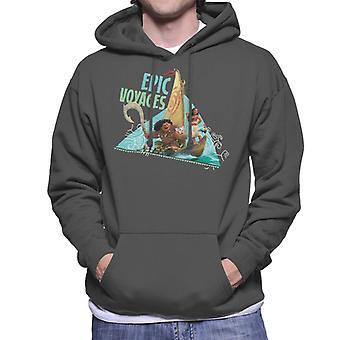 Disney Moana Epic Voyages Homme-apos;s Sweatshirt à capuchon