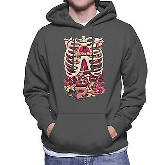 Rick and Morty Anatomy Park Rib Cage Men's Hooded Sweatshirt