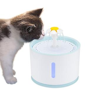 Led Electric Usb Automatic Pet Cat Water Fountain Mute Drinker Feeder Bowl &