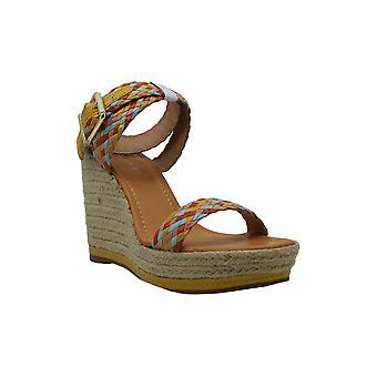 Madden Girl Women-apos;s NARLA Espadrille Wedge Sandal, Jaune/Multi, 8 M US