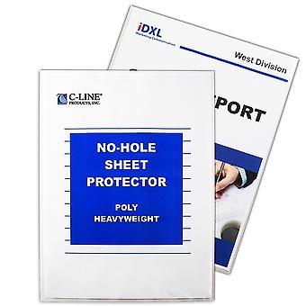 62907BNDL2BX, Protector de hoja sin orificio, transparente, 11 x 8 1/2, 25/BX (conjunto de 2 BX)