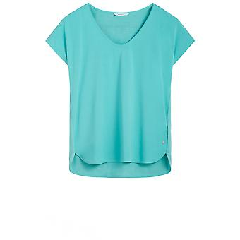 Sandwich Clothing Turquoise Silky Front Top