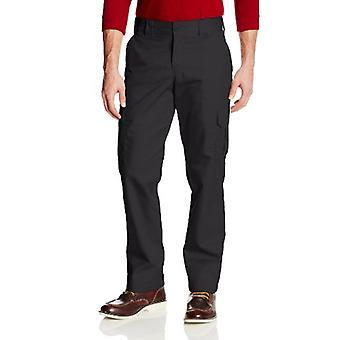 Dickies Men's Slim Straight Stretch Twill Cargo Pant, Black, 36x32