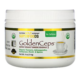 California Gold Nutrition, GoldenCeps, Organic Turmeric with Adaptogens, 4 oz (1