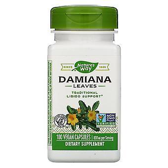 Nature's Way, Damiana Blätter, 800 mg, 100 Vegan Kapseln