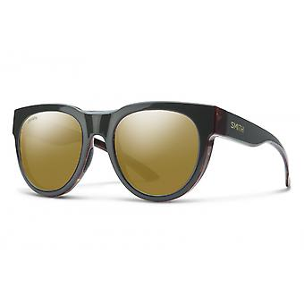 نظارات شمسية Unisex الصليبي الرمادي الداكن / البرونزية