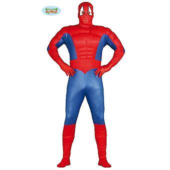 Spider man supersankari lihakset puku Miesten Carnival Carnival Super Hero spider