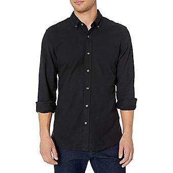 Brand - Goodthreads Men's Long Sleeve Oxford Shirt, Black XX-Large Tall