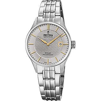 Festina Swiss F20006-2 Swiss Made Women's Grey Dial Wristwatch