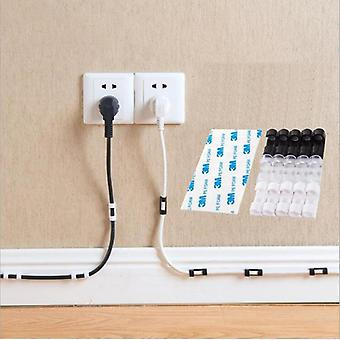 Cable Organizer Clips Cable Management Desktop & Workstation, Abs Wire Manager