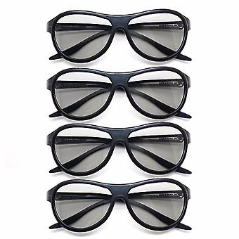 4pcs/lot Replacement Ag-f310 3d Polarized Passive Glasses For Lg, Tcl Samsung /