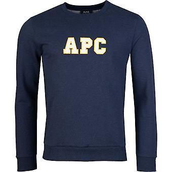 Apc Malcom College Logo Crew Neck Sweatshirt