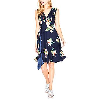 RACHEL Rachel Roy Vestido de fiesta con volantes florales