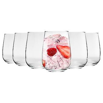 Argon Tableware 6 Piece Corto Stemless Gin and Tonic Glasses Set - 590ml