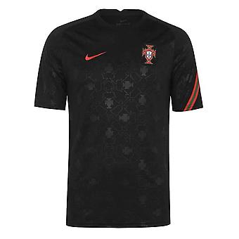2020-2021 Portugal Nike Torr Pre-Match Training Shirt (Svart)