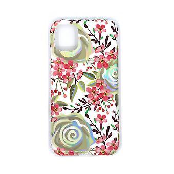 Shell do iPhone 11 com flores de suporte
