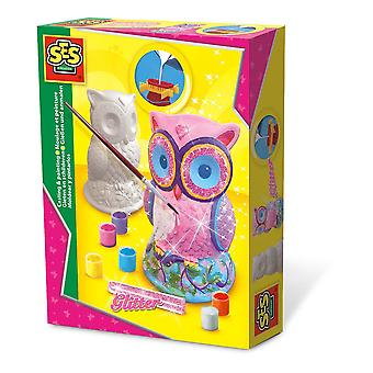 SES Creative Owl Casting and Painting Set Multi-Colour (1285)