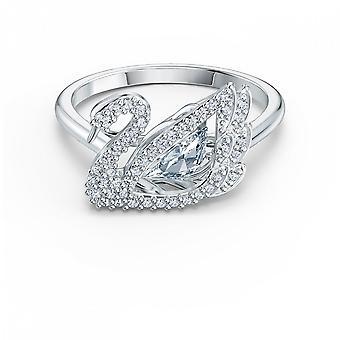 טבעת ברבור לבן עם זירקונים לבנים מעוקב 5534843