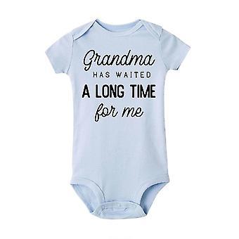 Babcia czekała długo na mnie baby girls boys kombinezon noworodka print