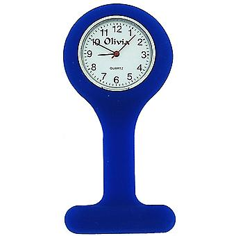 A Olivia Collection Navy Unisex Rubber Infection Control Nurses Fob Watch TOC150