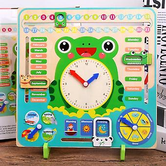 Montessori Sääkalenteri kello puinen, Kalenteri kello aika kognitio